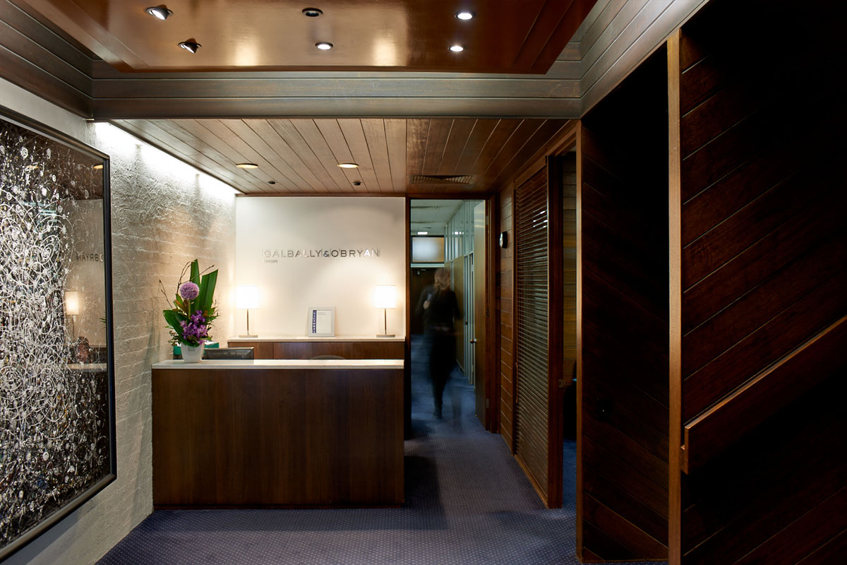 Galbally & O'Bryan Melbourne Office Reception